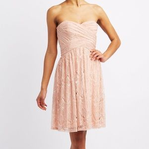 Blush pink strapless dress